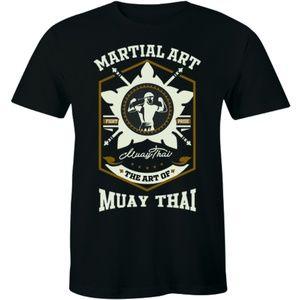 Muay Thai Martial Art Fighting Sports Mens T-shirt